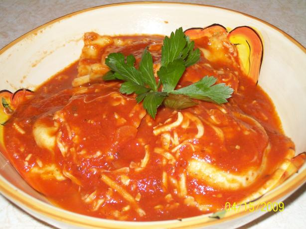 Slow Cooker Ravioli Casserole. Photo by AZPARZYCH