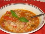 Pasta E Fagioli With Ham, Mushrooms and Herbs