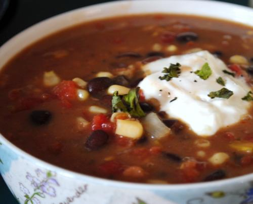 Hearty Black Bean Chowder - Crock Pot. Photo by Andi of Longmeadow Farm