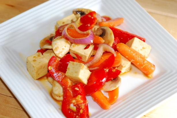 Tofu Salad - Easy Vegan - Make Ahead (Moosewood). Photo by Katzen