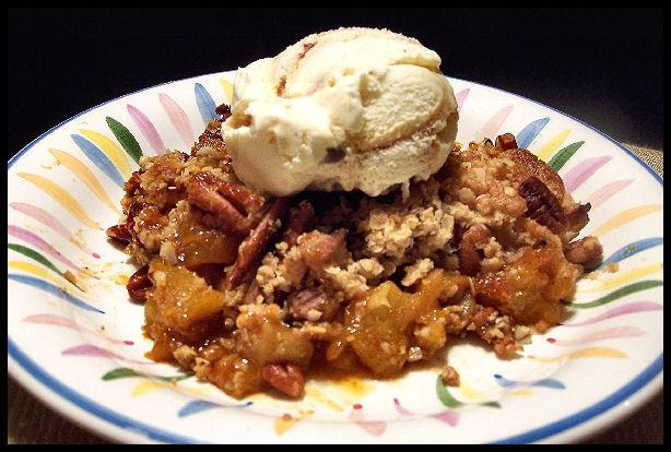 Butterscotch Apple Pecan Cobbler. Photo by NcMysteryShopper