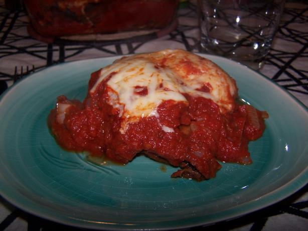 Eggplant Parmigiana. Photo by Isabeau