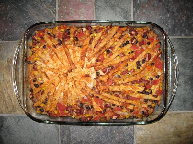 Mexican Layered Casserole Vegan(3.5 Points). Photo by Chef #1140724