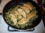 Chicken Tenders With Lemon-Spinach Rice