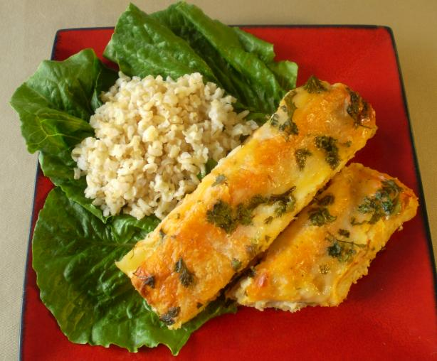 Creamy Corn and Spinach Enchiladas With Chicken. Photo by TasteTester