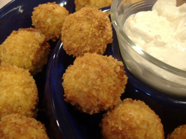 Buffalo Chicken Cheese Balls With Blue Cheese Dip. Photo by vivmom