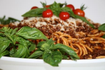 Spaghetti Bolognese. Photo by SauceCatering