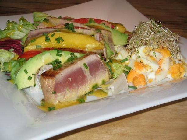Chinese Tuna With Curry Chive Mayonnaise. Photo by The Flying Chef