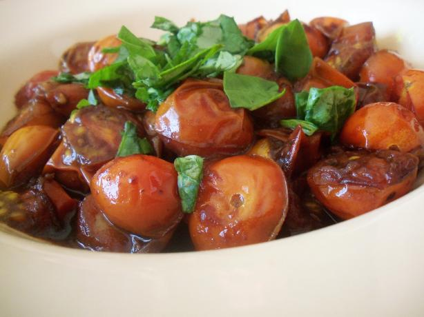 Sauteed Grape Tomatoes. Photo by *Parsley*