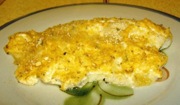 Baked Tilapia With Sour Cream Parmesan Crust. Photo by Marie Nixon