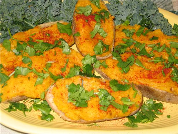 Low Cal Spicy Baked Potatoes. Photo by Susie D