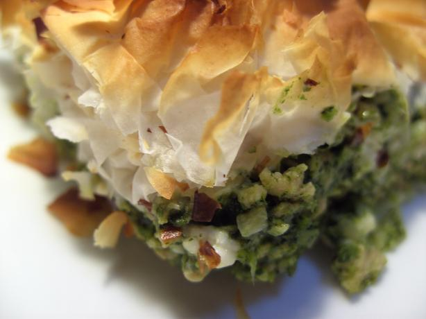 Spinach & Chicken Pie. Photo by JustJanS