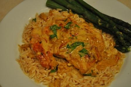 Romantic Chicken Scallopine With Saffron Cream Sauce. Photo by Chef #652483