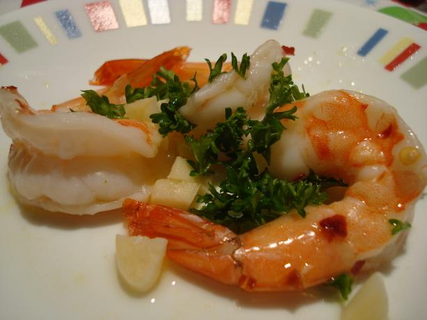 Spanish Baked Shrimp. Photo by Starrynews