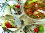 Freshly Shucked Oysters and Sauce Mignonette With a Twist!