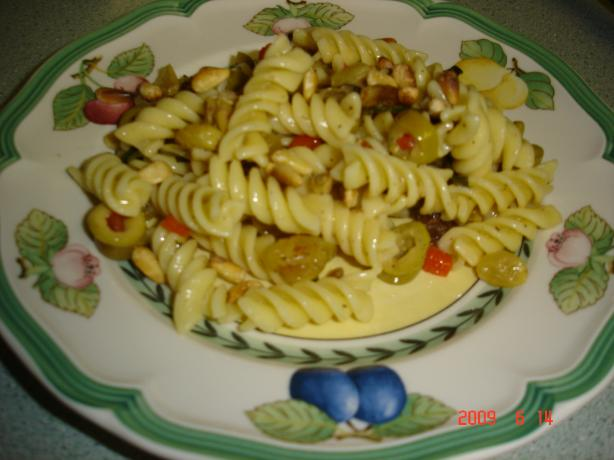 Fusilli Pasta Salad. Photo by young chef #3