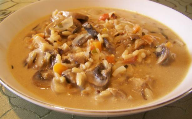 Creamy Wild Rice-And-Mushroom Soup. Photo by wicked cook 46