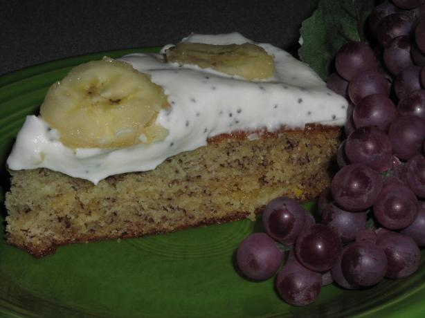 Banana Cake With Poppy and Lemon Cream. Photo by TeresaS