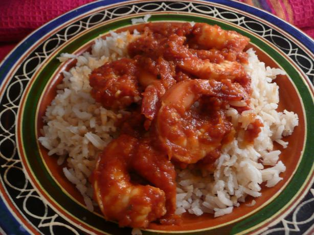 Shrimp in Chipotle Sauce. Photo by cookiedog