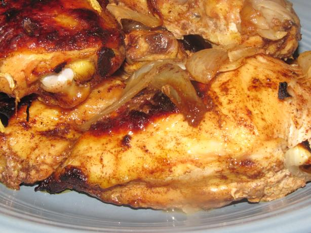 Paprika Roast Chicken With Sweet Onion. Photo by kellychris