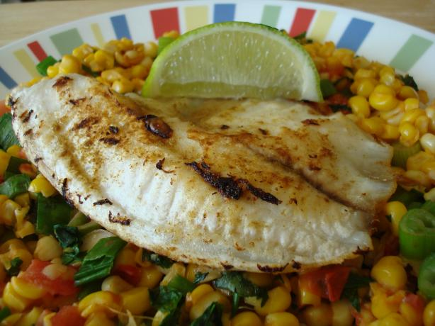 Cumin Fish & Roasted Corn Salsa (21 Day Wonder Diet: Day 10). Photo by Starrynews