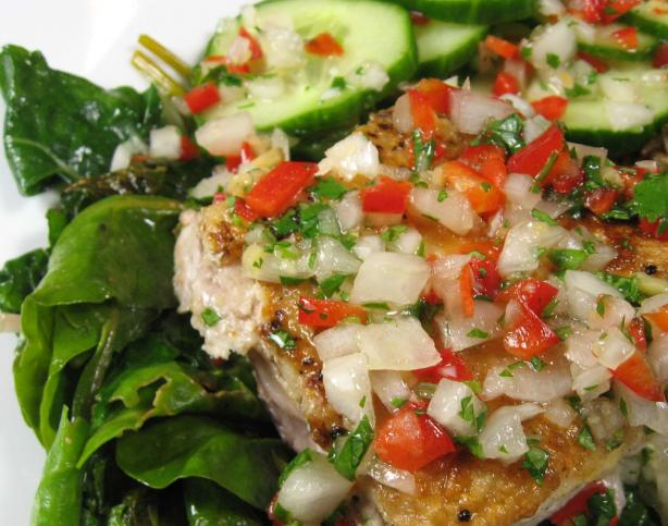Sauteed Fish With Thai Coriander-Chili Sauce. Photo by dianegrapegrower