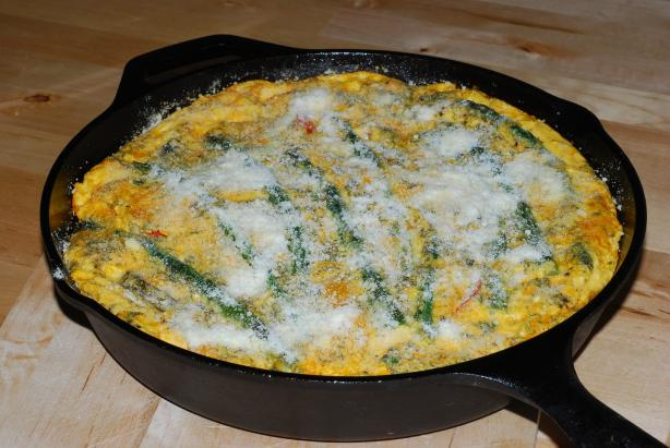 Spring Vegetable Frittata (Low Fat/Low Cal). Photo by Katzen
