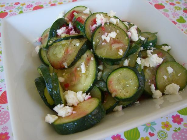 Sautéed Garlic Zucchini With Crumbled Feta. Photo by Chef*Lee