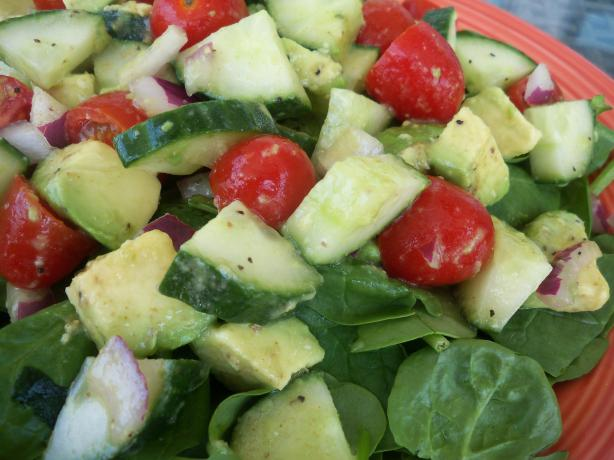 Atkins Cucumber-Avocado Salad With Cumin Dressing. Photo by *Parsley*