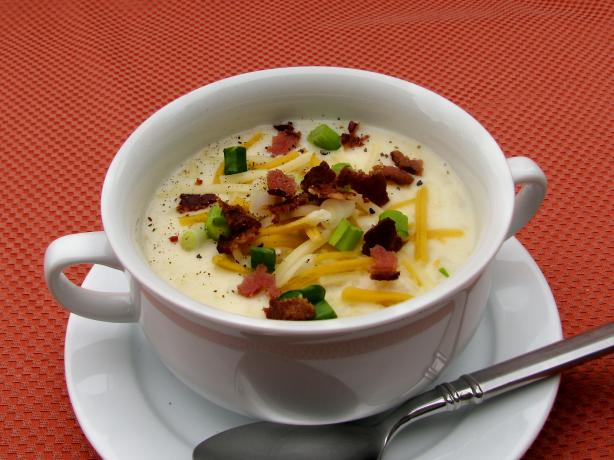 Baked Potato Soup. Photo by lazyme