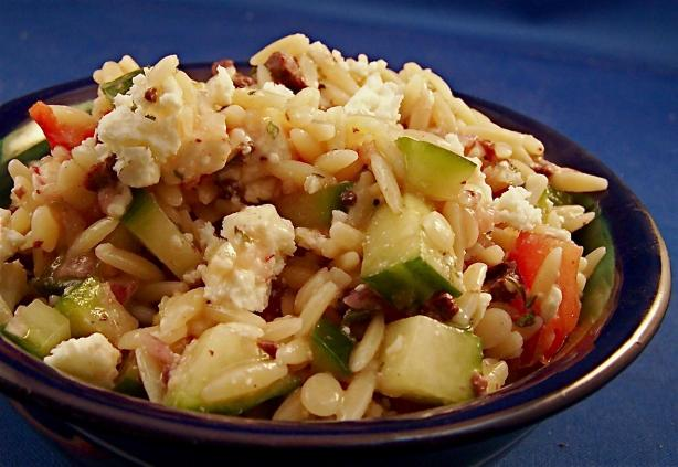 Greek Orzo Salad. Photo by PaulaG