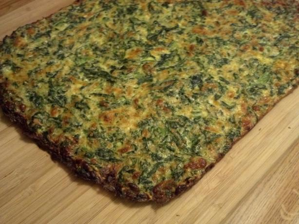 "Low Carb Spinach-Cheese ""bread"". Photo by Pdorf"