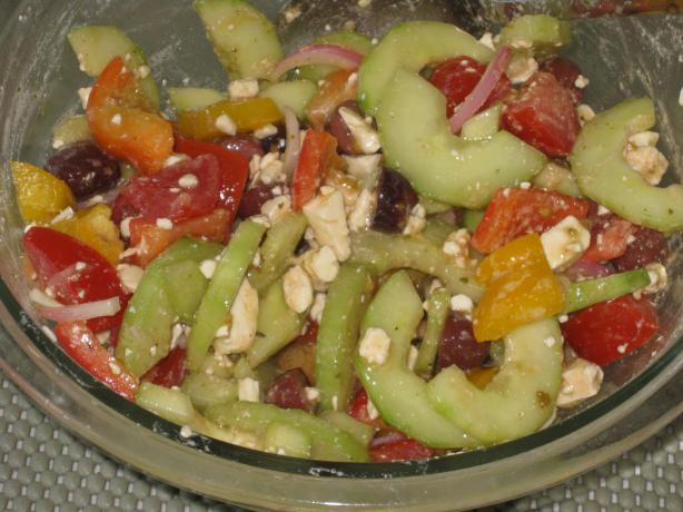 Greek Tomato Salad With Feta Cheese and Olives. Photo by FrenchBunny