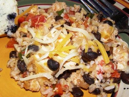 Mexican Chicken and Rice Casserole. Photo by DuChick