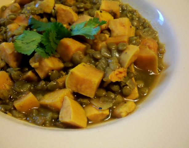 Lentils With Sweet Potatoes. Photo by *Parsley*