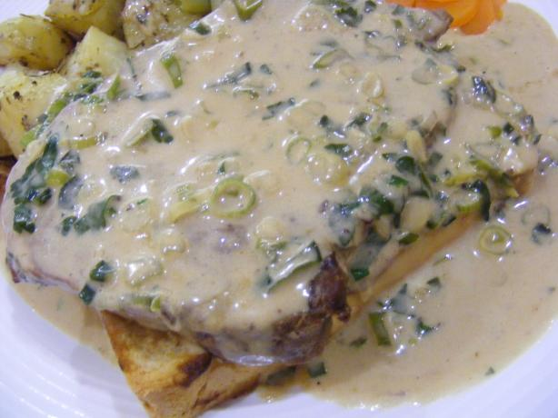 Steaks With Whiskey Cream Sauce. Photo by Sara 76