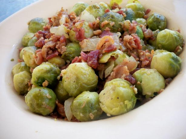 Bacon Brussels Sprouts (Yum!). Photo by *Parsley*
