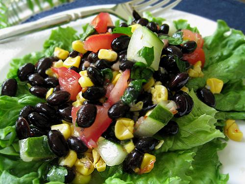 Black Bean Salad. Photo by Caroline Cooks