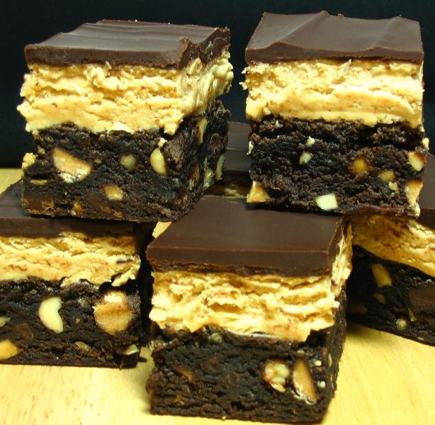 Chocolate-Peanut Butter Fudge Bars. Photo by Breezytoo