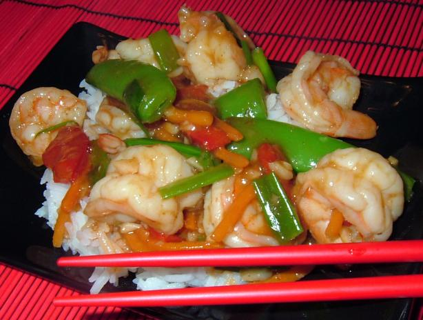 Stir-Fried Shrimp in Garlic Sauce. Photo by PanNan