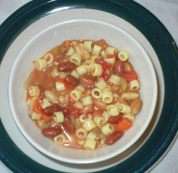 Twig's Pasta Fagioli (Pasta Fazool). Photo by Twiggyann