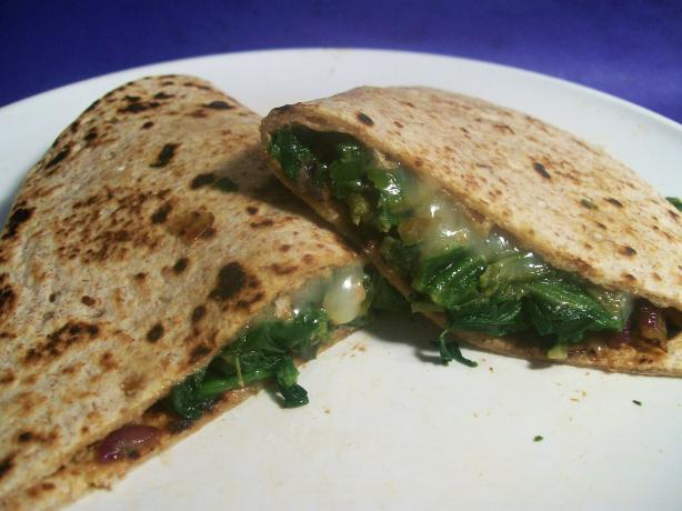 Spinach and Mozzarella Quesadillas. Photo by Sharon123