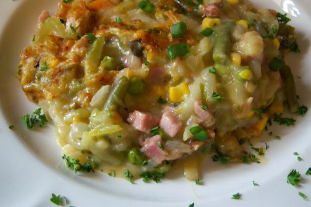 Ham, Hash Browns & Veggies Casserole. Photo by NELady