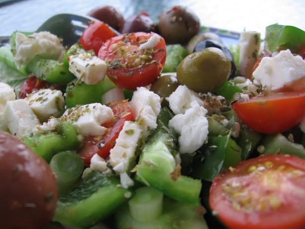 Greek Village Salad for One. Photo by Dreamer in Ontario