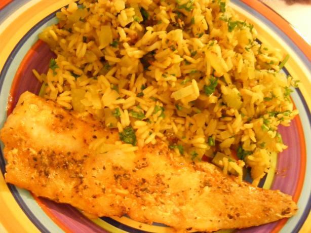 Cajun Fish & Rice Pilaf (21 Day Wonder Diet: Day 19). Photo by Sara 76