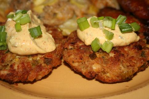 Chicken Cakes With Remoulade Sauce (Quick &amp; Easy!). Photo by ~Nimz~