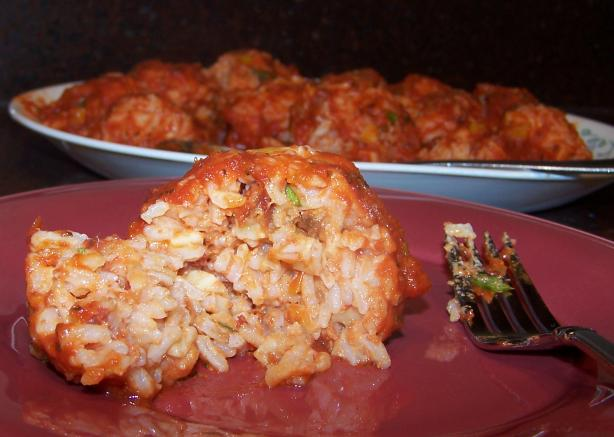 Sun-Dried Tomato, Mozzarella and Basil Rice Balls. Photo by Rita~