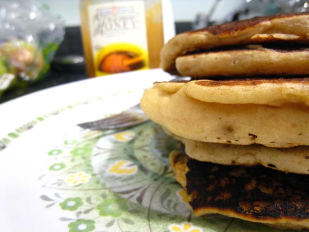 Alton Brown's Fluffy Whole Wheat Pancakes. Photo by Georgiapea