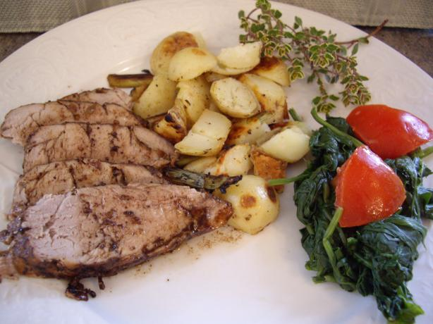 Juicy Balsamic-Glazed Pork Tenderloin With Garlic and Thyme. Photo by Sage