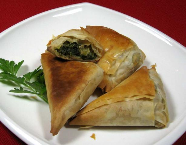 Mild Spanakopita. Photo by dianegrapegrower
